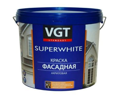 Краска фасадная супербелая ВД-АК-1180 ВГТ