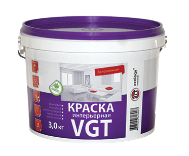 Краска акриловая ВД-АК-2180 интерьерная «Белоснежная» /влагостойкая