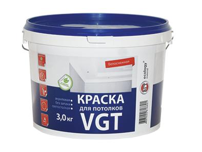 Краска акриловая ВД-АК-2180 потолочная «Белоснежная» ВГТ