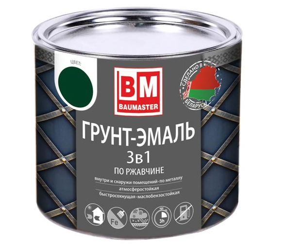 Грунт-эмаль 3 в 1 по ржавчине BAUMASTER
