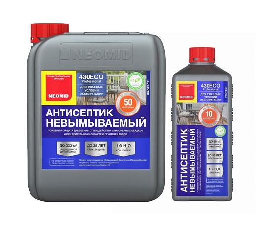 Антисептик для дерева невымываемый 430 Eco Neomid