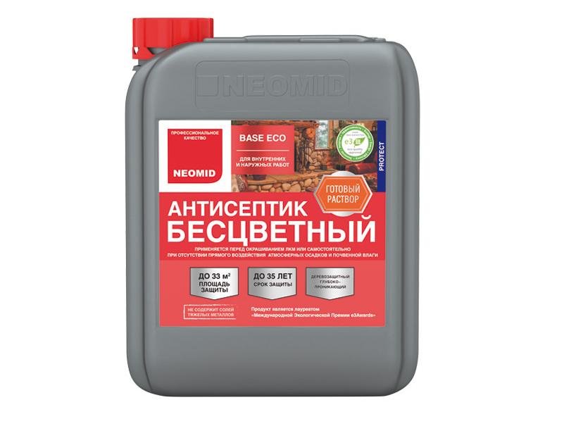 Универсальный бесцветный антисептик для дерева Neomid Base Eco