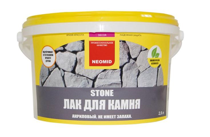Лак акриловый для камня Neomid Stone
