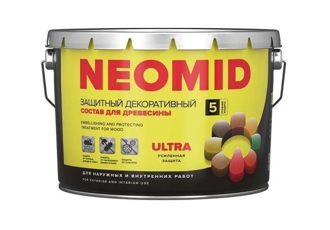 Защитная декоративная пропитка для древесины NEOMID BiO COLOR Ultra