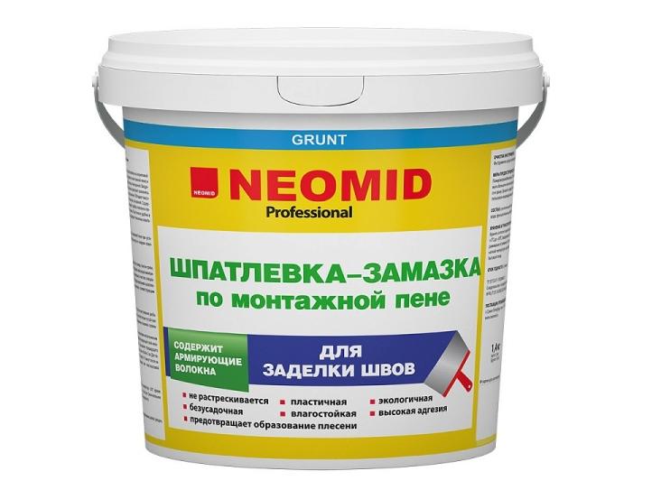 Шпатлевка-замазка NEOMID для заделки швов по монтажной пене