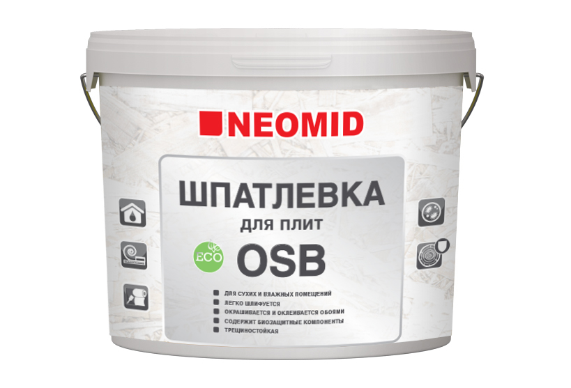 Шпатлевка NEOMID для плит OSB