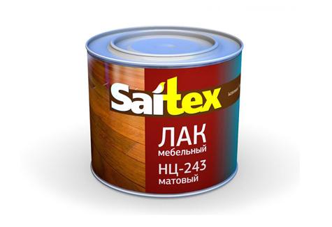 Лак НЦ-243 мебельный матовый «Saitex»