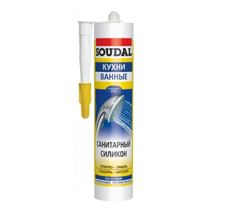Герметик санитарный силиконовый Soudal